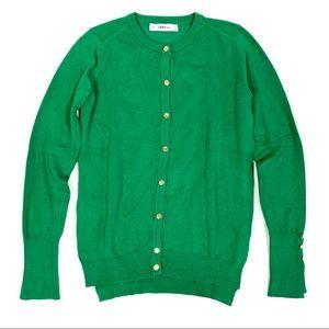 Zara knit green cardigan size S ☕️